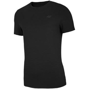 Îmbracaminte Bărbați Tricouri mânecă scurtă 4F TSM003 Negre
