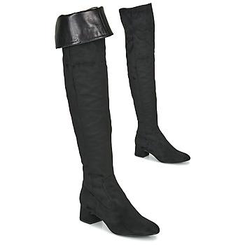 Pantofi Femei Cizme lungi peste genunchi Unisa LUKAS Negru