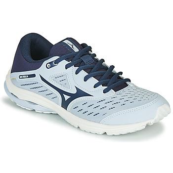 Pantofi Fete Trail și running Mizuno WAVE RIDER JR Albastru