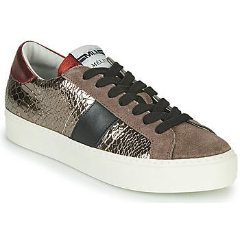 Pantofi Femei Pantofi sport Casual Meline PL1810 Bronz / Roșu
