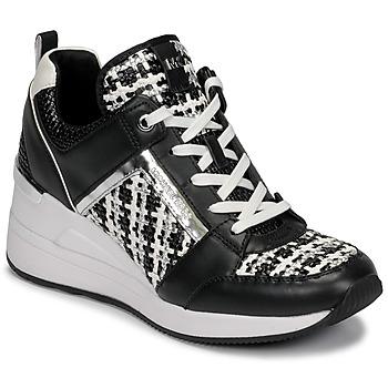 Pantofi Femei Pantofi sport Casual MICHAEL Michael Kors GEORGIE TRAINER Negru / Alb