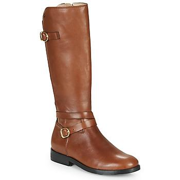 Pantofi Fete Cizme casual Acebo's 9863-CUERO-T Maro