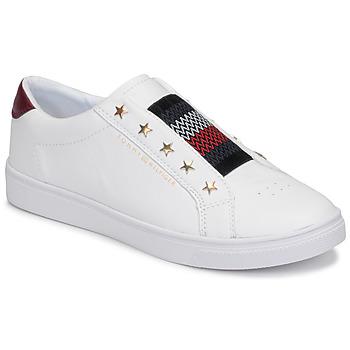 Pantofi Femei Pantofi sport Casual Tommy Hilfiger TOMMY HILFIGER ELASTIC SLIP ON Alb