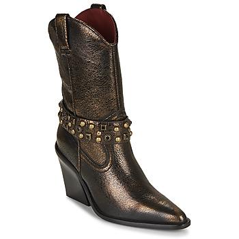 Pantofi Femei Botine Bronx NEW KOLE Negru / Auriu