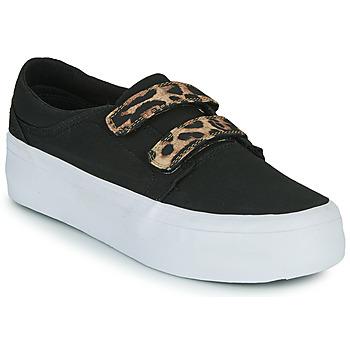 Pantofi Femei Pantofi sport stil gheata DC Shoes TRASE PLATEFORM V Negru / Leopard
