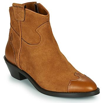 Pantofi Femei Botine See by Chloé VEND Coniac