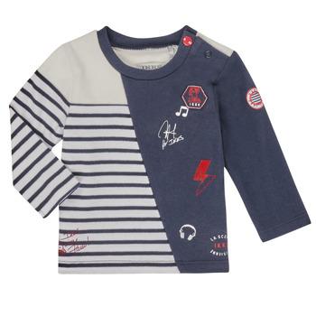 Îmbracaminte Băieți Tricouri cu mânecă lungă  Ikks XR10041 Alb