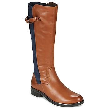 Pantofi Femei Cizme casual Caprice 25504-387 Coniac / Albastru