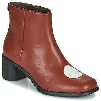 Pantofi Femei Botine Camper TWINS Bordo