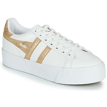 Pantofi Femei Pantofi sport Casual Gola ORCHID PLATEFORM Alb / Auriu