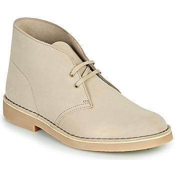 Pantofi Bărbați Ghete Clarks DESERT BOOT 2 Bej-nisip