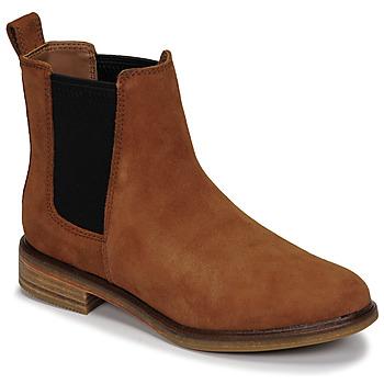 Pantofi Femei Ghete Clarks CLARKDALE ARLO Camel