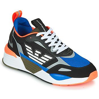Pantofi Bărbați Pantofi sport Casual Emporio Armani EA7 XK165 Negru / Albastru / Portocaliu