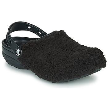 Pantofi Femei Saboti Crocs CLASSIC FUZZ MANIA CLOG Negru