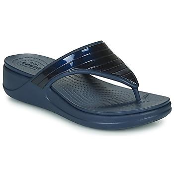Pantofi Femei  Flip-Flops Crocs CROCSMONTEREYMETALLICSTPWGFPW Albastru
