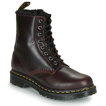 Pantofi Femei Ghete Dr Martens 1460 SERENA Bordo