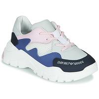 Pantofi Băieți Pantofi sport Casual Emporio Armani XYX008-XOI34 Alb / Albastru