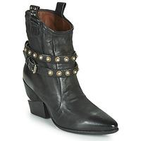 Pantofi Femei Botine Airstep / A.S.98 TINGET BUCKLE Negru