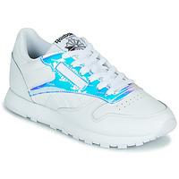 Pantofi Femei Pantofi sport Casual Reebok Classic CL LTHR Alb / Iridescent