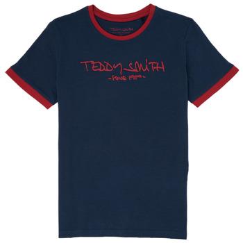 Îmbracaminte Băieți Tricouri mânecă scurtă Teddy Smith TICLASS 3 Bleumarin