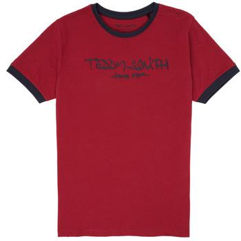 Îmbracaminte Băieți Tricouri mânecă scurtă Teddy Smith TICLASS 3 Roșu