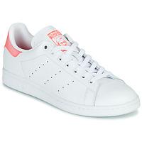 Pantofi Femei Pantofi sport Casual adidas Originals STAN SMITH W Alb / Roz