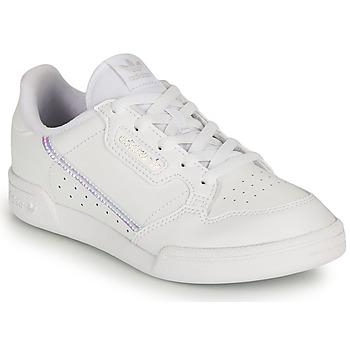 Pantofi Fete Pantofi sport Casual adidas Originals CONTINENTAL 80 C Alb / Iridescent