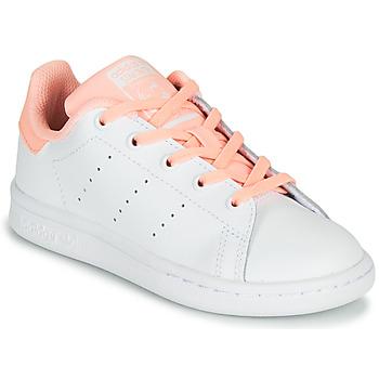 Pantofi Fete Pantofi sport Casual adidas Originals STAN SMITH C Alb / Roz