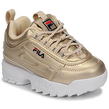 Pantofi Fete Pantofi sport Casual Fila DISRUPTOR F INFANTS Auriu