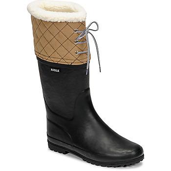 Pantofi Femei Cizme de zapadă Aigle POLKA GIBOULEE Bleumarin / Bej