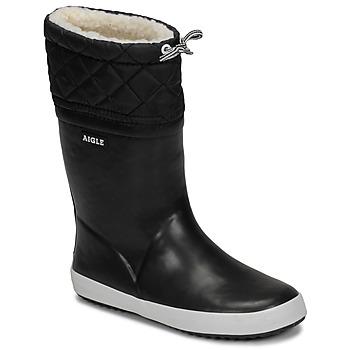 Pantofi Copii Cizme de zapadă Aigle GIBOULEE Negru / Alb