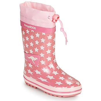 Pantofi Fete Cizme de cauciuc Kangaroos K-RAIN Roz