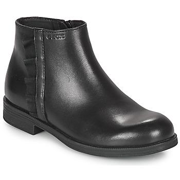 Pantofi Fete Ghete Geox AGGATA Negru