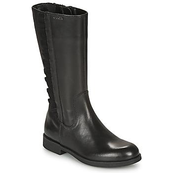Pantofi Fete Cizme casual Geox AGGATA Negru
