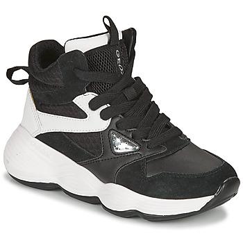 Pantofi Fete Pantofi sport stil gheata Geox BUBBLEX Negru / Alb
