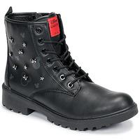 Pantofi Fete Ghete Geox CASEY Negru
