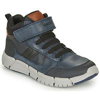 Pantofi Băieți Ghete Geox FLEXYPER Albastru / Negru