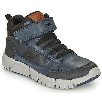 Pantofi Băieți Ghete Geox FLEXYPER Bleumarin / Negru