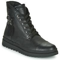 Pantofi Fete Ghete Geox GILLYJAW Negru