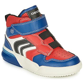 Pantofi Băieți Pantofi sport Casual Geox GRAYJAY Roșu / Albastru