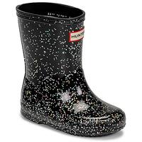 Pantofi Fete Cizme de cauciuc Hunter KIDS FIRST CLASSIC GLITTER Negru
