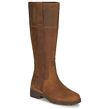 Pantofi Femei Cizme casual Timberland GRACEYNTALLSIDEZIPWP Maro