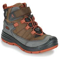 Pantofi Copii Drumetie și trekking Keen REDWOOD MID WP Maro