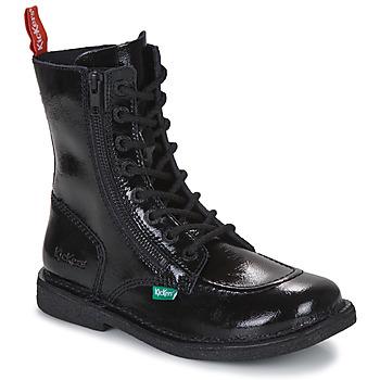 Pantofi Femei Ghete Kickers MEETICKZIP Negru / Lac