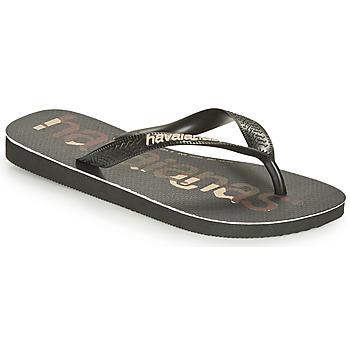 Pantofi  Flip-Flops Havaianas TOP LOGOMANIA Negru