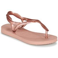 Pantofi Fete  Flip-Flops Havaianas LUNA MINI ME Roz