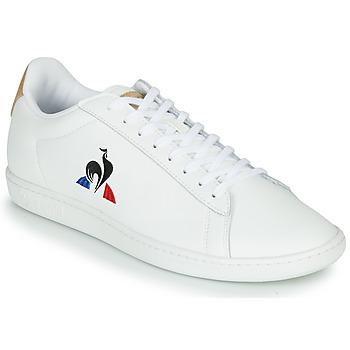 Pantofi Pantofi sport Casual Le Coq Sportif COURTSET Alb / Coniac