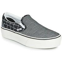 Pantofi Femei Pantofi Slip on Vans Classic Slip-On Platform Gri