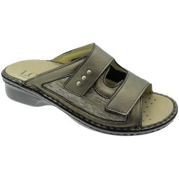 Pantofi Femei Papuci de vară Calzaturificio Loren LOM2824br tortora