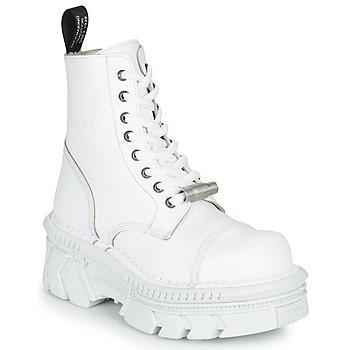 Pantofi Ghete New Rock M-MILI083CM-C56 Alb
